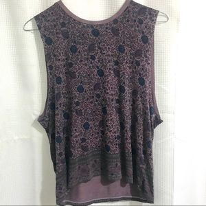 American Eagle- Soft & Sexy Purple Floral Tank (M)